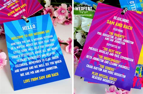 Weddingku Wedding Festival by Festival Wedding Programme Lanyards Wedfest