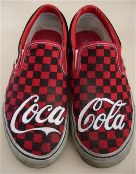 coca cola slippers vans custom coca cola shoes the shoe must go on