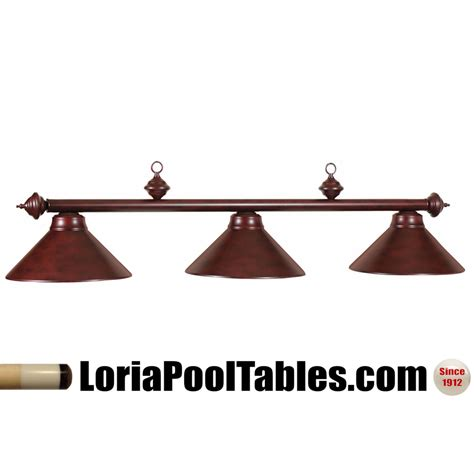 pool table light fixtures 54 metal shade billiard fixture mahogany finish pool