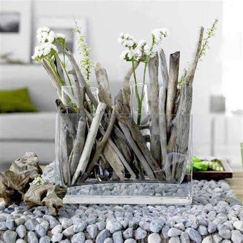 creative decor ideas using driftwood branches or reclaimed eco friendly table decorations and centerpieces driftwood