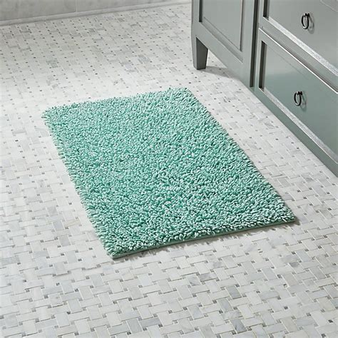 green bathroom rugs loop seafoam green bath rug crate and barrel
