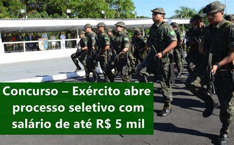 aeronutica abre inscries para concurso de sargento concurso ex 233 rcito abre processo seletivo com sal 225 rio de