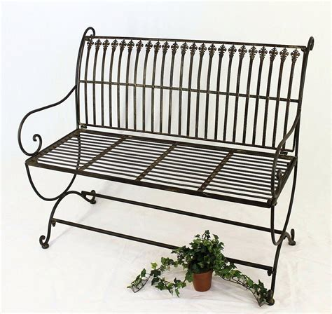 metal garden bench ebay bench finca 063 2 sitzer made of metal garden bench seat