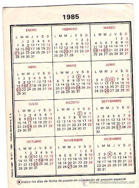 Calendario De 1985 1783 Calendario 1985 Tabacalera Emisiones Fil Comprar