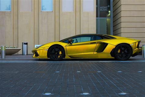 chrome yellow aventador lamborghini lp700 supercars tuning yellow chrome