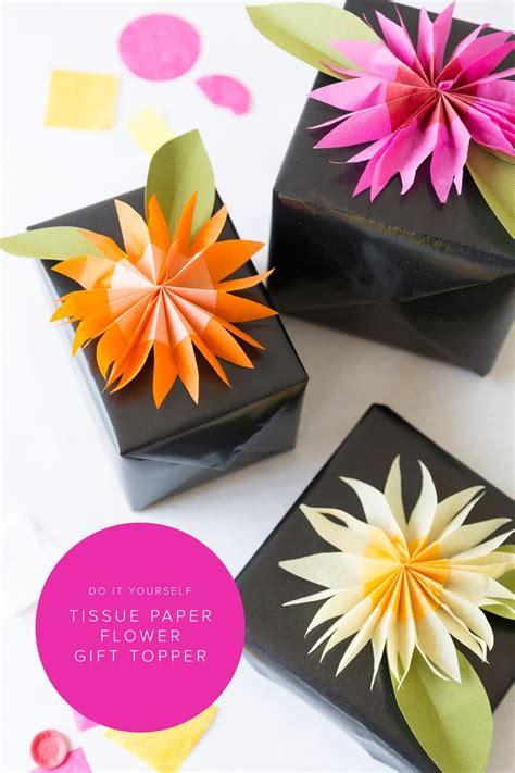 Handmade Tissue Flowers - diy paper tissue flower gift topper tissue paper flowers