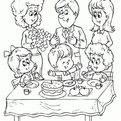 birthday decorations coloring pages coloring pages birthday party coloring home