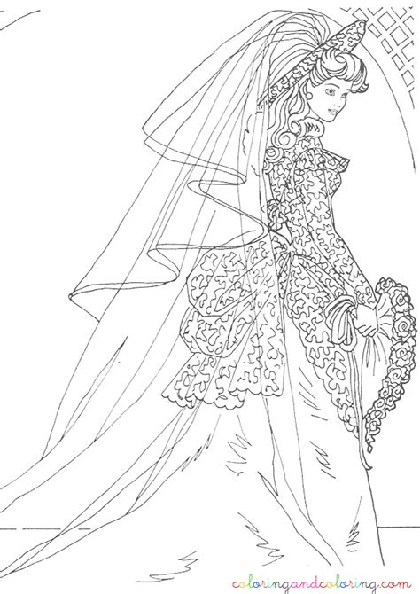 free barbie wedding coloring pages freecoloring4u com