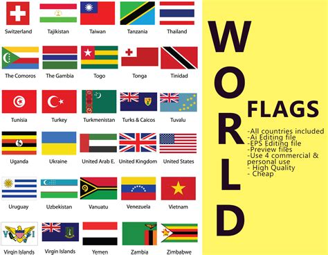 flags of the world countries world flags