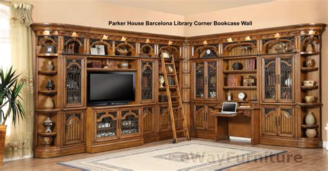 library wall units bookcase parker house barcelona library corner bookcase wall