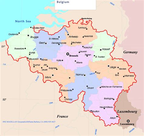 belgium country map maps of europe region country