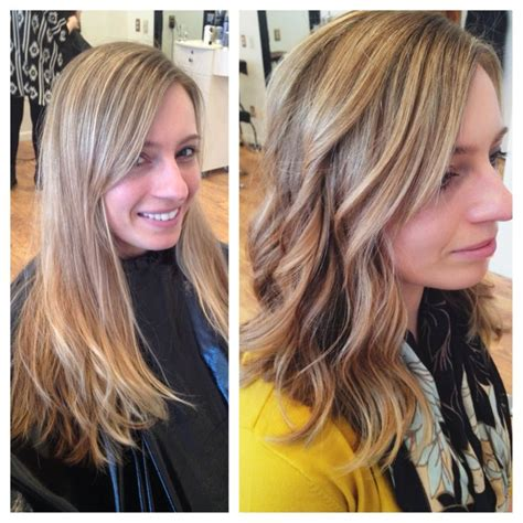 long hair to long wavy bob before and after pics before and after balayage highlights and lowlights long
