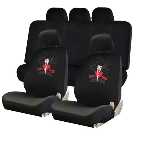 betty boop bench seat covers 4pc betty boop skyline two lowback seat covers uaa