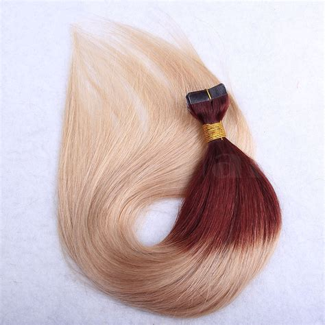 ombre 22inch hair extentions 10 30 inch ombre tape in remy human hair extensions two