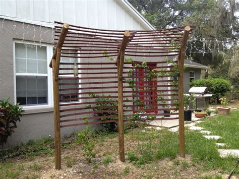 diy arbor trellis simple and modest re diy grape arbor vegetable garden
