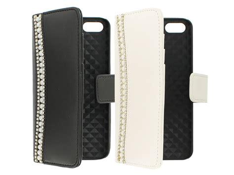 diamond pearls wallet case hoesje voor iphone