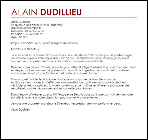 Lettre De Motivation De Securite Exemple Lettre De Motivation De S 233 Curit 233 Livecareer
