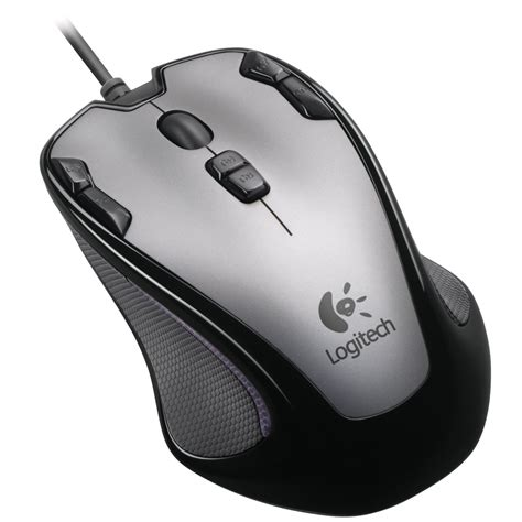 logitech optical gaming mouse  silver black