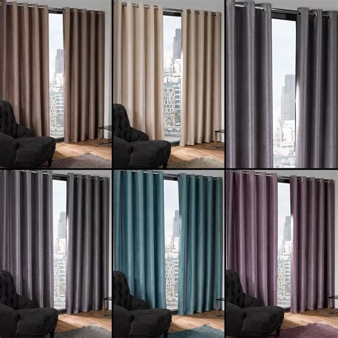 cream blackout curtains eyelet grommet textured thermal blackout eyelet ready made