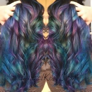 spill color haircolor how to muted rainbow by laurel keel the colorist