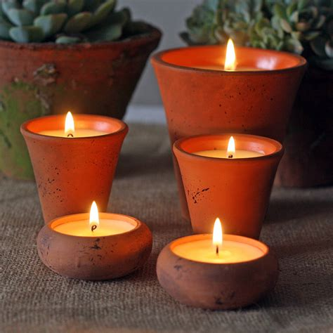 Candle Pot Scented Candles In Flower Pots By The Wedding Of My Dreams