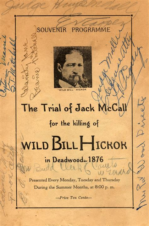 Home Decor Stores In San Diego Trial Of Jack Mccall Killing Of Wild Bill Signed Vintage