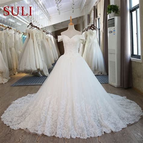 sl  real pictures ball gown bridal dress vintage muslim