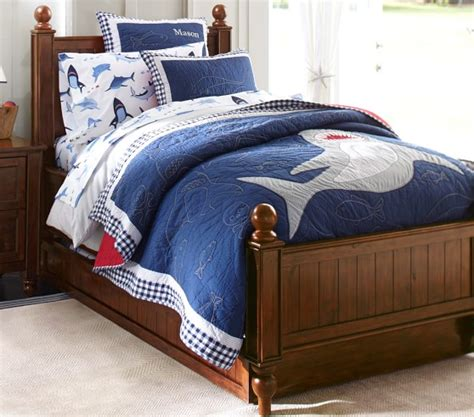 shark bedding shark bite sheet set pottery barn kids