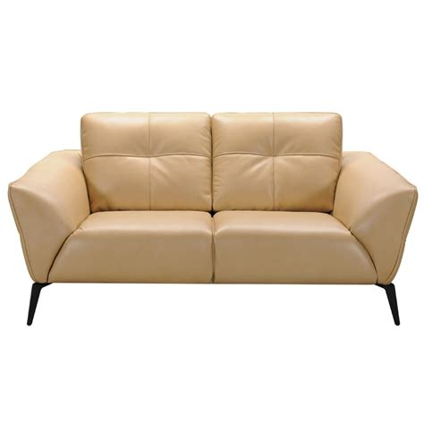 Divani Leather Sofa Divani Casa Forge Modern Beige Leather Sofa Set