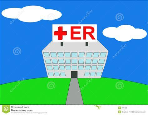 er free illustration of hospital er stock vector image 896736
