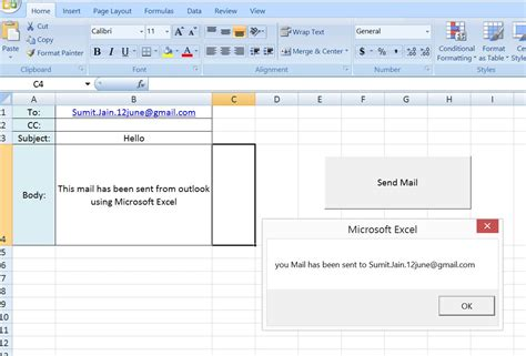 create email from template excel vba vba excel add