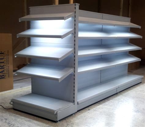 Retail Display Shelf by Barliteled Puts Led Lighting Onto Metal Shelves Racks