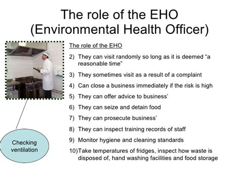 Environmental Officer by Food Scares Eho
