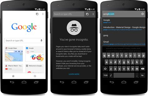 sign into chrome on android chrome for android update brings material design and more