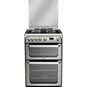 Oven Gas Stainless Uk 120 hotpoint ultima hug61x freestanding oven gas cooker in stainless steel 5016108624166 ebay