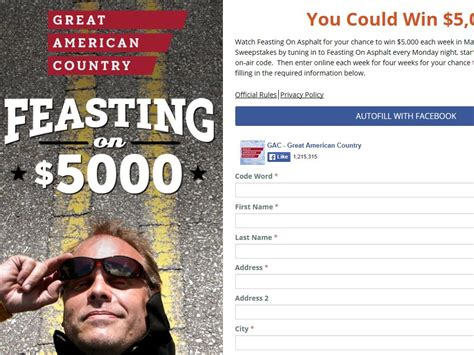 Great American Country Sweepstakes - great american country feasting on 5 000 sweepstakes