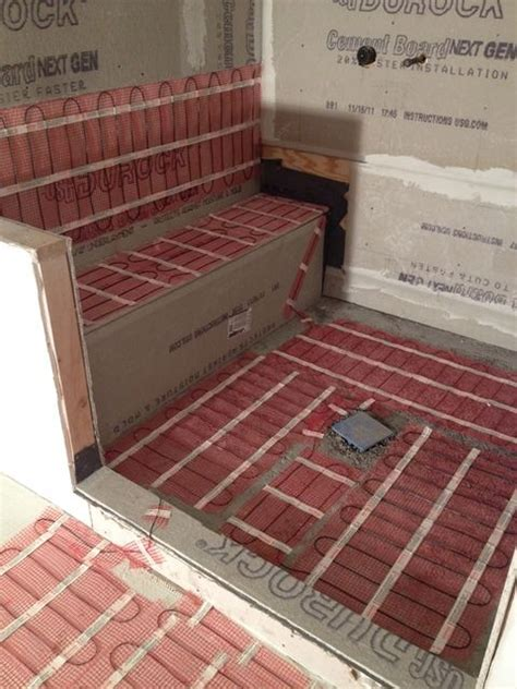 heated floors bathroom warmup radiant floor heating systems electric floor
