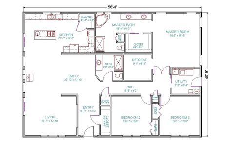 floor plans 4 bedroom 3 bath 4 bedroom 3 bath ranch house plans 2017 house plans and
