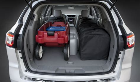 cargo space  chevy traverse   ford edge
