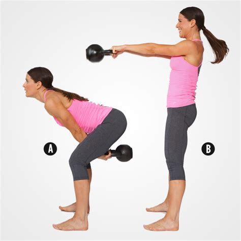 kettle ball swings burn 350 calories in 30 minutes with these moves