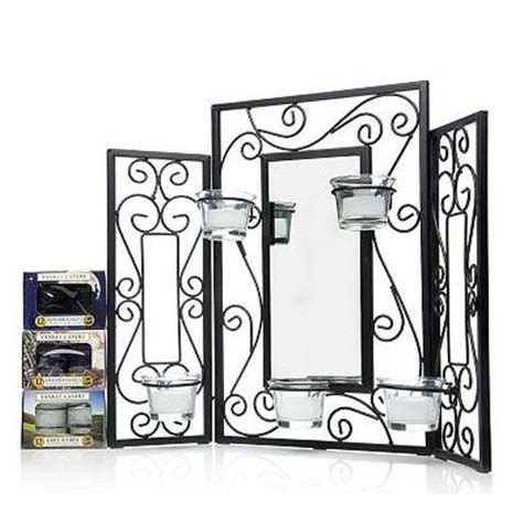 candle fireplace screen yankee candle black mirrored screen set ebay