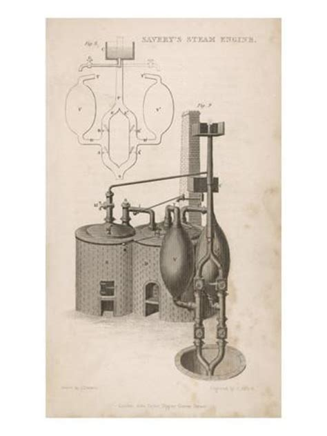 savery s steam engine diagram savery s steam engine giclee print at allposters