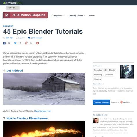 tutorial xnormal blender 45 epic blender tutorials pearltrees
