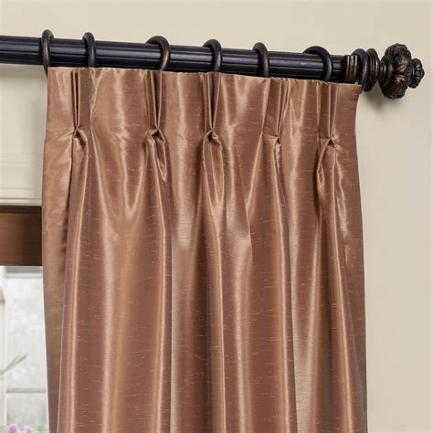 blackout pleated curtains flax gold blackout textured faux dupioni pleated curtain