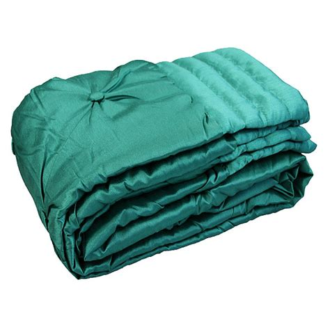 Teal Quilted Throw by Fiji Faux Silk Button Quilted Throw 140 X 240 Cm Ebay