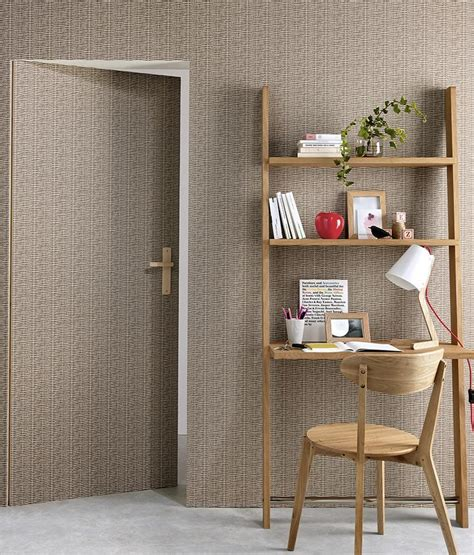Light Grey Decor by Rattan Wallpaper In Brown And Light Grey Design By Bd Wall