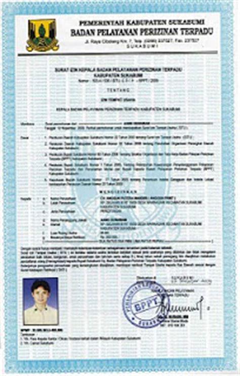 kimhotnews contoh surat izin tempat usaha situ