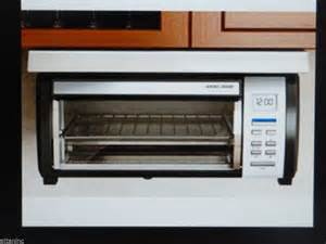 Under Cabinet Mounted Toaster Oven Black Amp Decker Spacemaker Digital Toaster Oven Tros1000