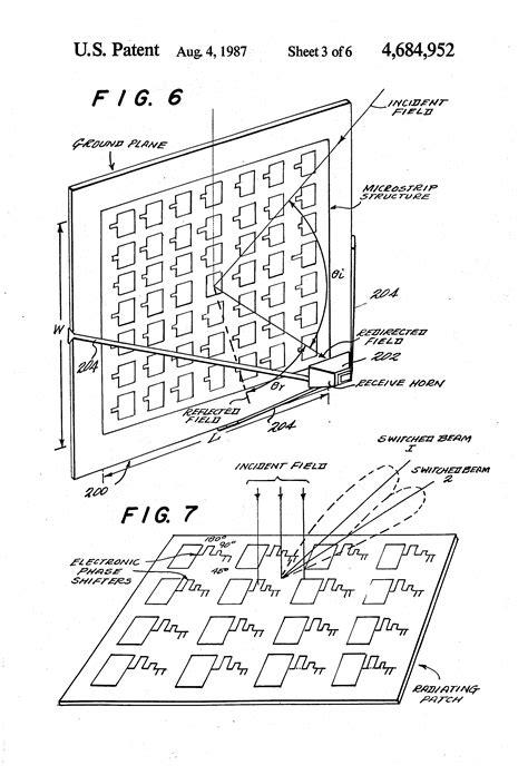 radar cross section handbook patent us4684952 microstrip reflectarray for satellite