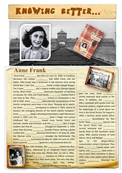 Open Sans Light Knowing Better Anne Frank Interactive Worksheet